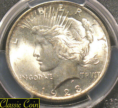 1923 Silver Peace Dollar $1 PCGS MS64+ 90% Silver Nice Coin