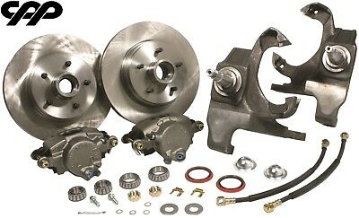 "55-57 Chevy Belair 12"" Rotor Disc Brake Conversion Kit with 2"" Drop Spindles"
