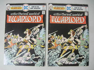 Lot Of 2 Warlord #1 Dc Comics 1976 Mike Grell First Issue! Origin Retold