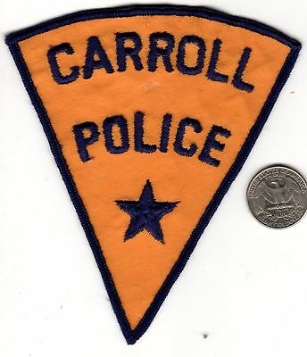 POLICE PATCH State of Iowa Carroll Police Cloth Badge