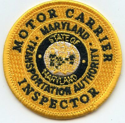 MARYLAND MD STATE MOTOR CARRIER INSPECTOR Commercial Vehicle CVE POLICE PATCH