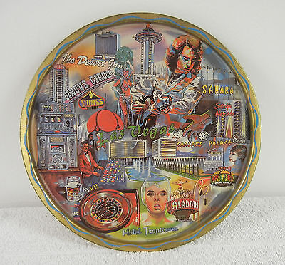 Vintage Souvenir Tray HITS THE JACKPOT in Capturing 1970s LAS VEGAS Nostalgia