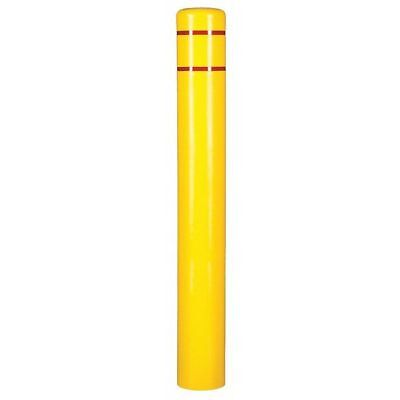 Post Sleeve,7 In Dia.,72 In H,Yellow ZORO SELECT CL1386N