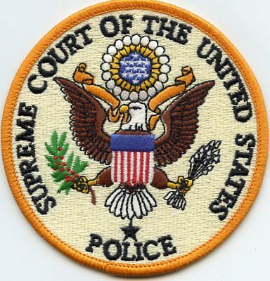 Supreme Court Of The United States Washington Dc Police Patch