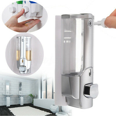 Wall Mounted Shampoo Soap Dispenser Sanitizer Bathroom Shower Liquid Lotion Pump