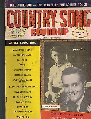 Country Song Roundup February 1963 Bill Anderson Skeeter Davis Judy Lynn