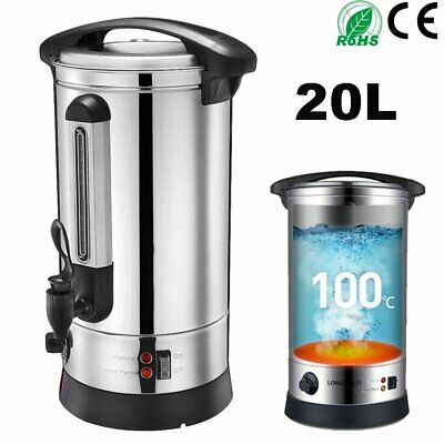 Upgraded Stainless Steel 20L Tea Urn Electric Catering Hot Water Boiler Coffee
