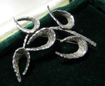 Vintage Jewellery Sterling Silver NAFTOL BODINA Signed N.B Modernist Pin BROOCH