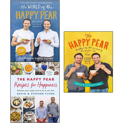 World of the Happy Pear Healthy Easy Delicious Food 3 Books collection set NEW