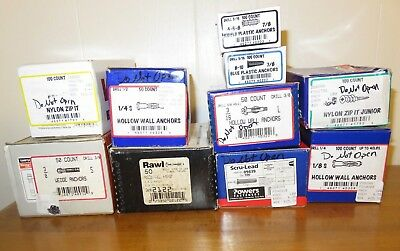 Huge Lot of New Nylon & Metal Anchors / Ties 10 boxes total Box #11