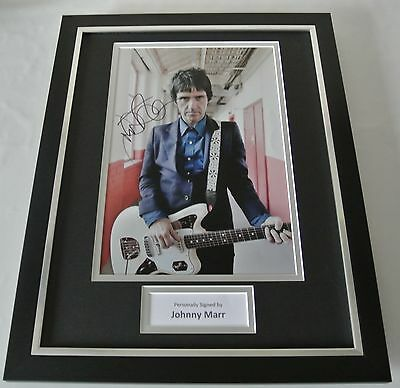 Johnny Marr SIGNED FRAMED Photo Autograph 16x12 display The Smiths Music & COA