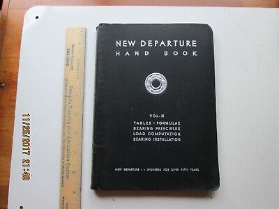 New Departure Hand Book Sixth Edition 1942 For Engineers and Machine Designers