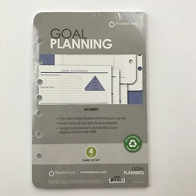 FRANKLIN COVEY Classic Goal Planning Pages NEW