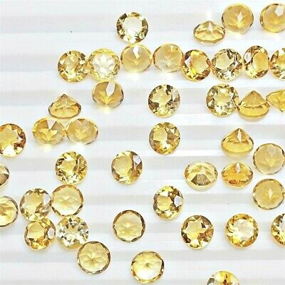 Wholesale Lot of 6x6mm Round Facet Cut Natural Citrine Loose Calibrated Gemstone