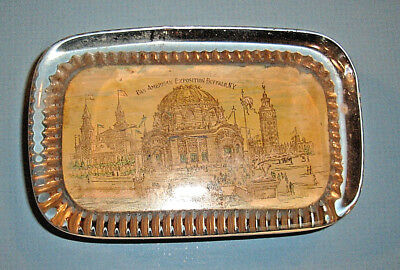 Vintage 1901 Pan-American Exposition GLASS PAPERWEIGHT Temple of Music, Buffalo