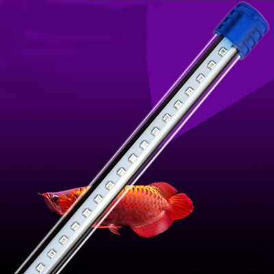 20-60cm Waterproof Aquarium Fish Tank RGB LED Light Bar Submersible Lamp US HF