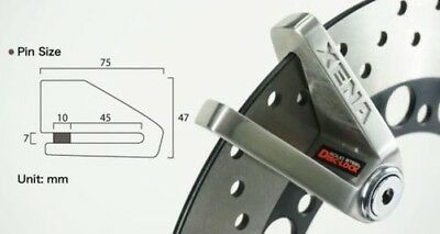 XENA X3 Disc Lock Perfect for Scooters, e-bikes and Bicycles with brake discs