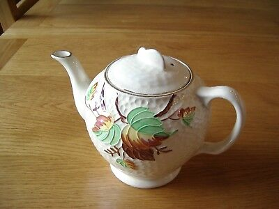 Vintage Teapot --Maling Ware —For Ringtons Tea  –Autumn Leaves On  Lustre Ground