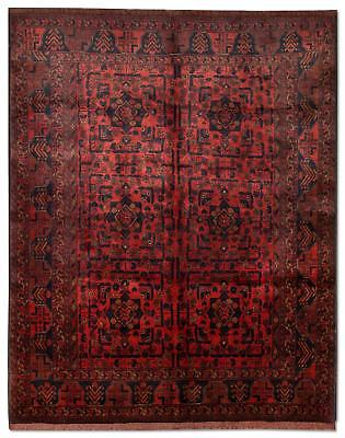 East Afghan Khal Mohammadi Rug 188 x 149 Cm Red Hand Knotted