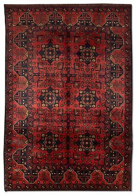 East Afghan Khal Mohammadi Rug 196 x 124 Cm Red Hand Knotted