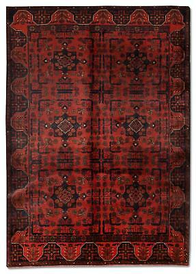 East Afghan Khal Mohammadi Rug 186 x 122 Cm Red Hand Knotted