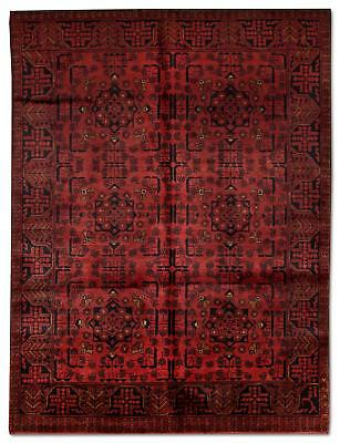 East Afghan Khal Mohammadi Rug 185 x 123 Cm Red Hand Knotted