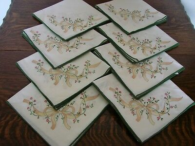 "8 Vintage table napkins to match Johnson Brothers ""Eternal beau"" pottery range"