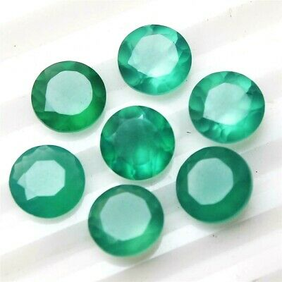 Wholesale Lot of 7mm Round Facet Natural Green Onyx Loose Calibrated Gemstone