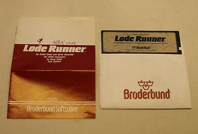 Disk and Manual to Lode Runner by Broderbund for the Atari 400/800