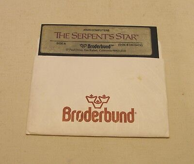 The Serpent's Star Disk by Broderbund for the Atari 400/800