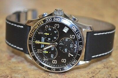 65a0ca001eb8e *Victorinox Swiss Army 241316 Stainless Steel Leather Band Chronograph Watch
