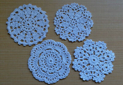 Cotton Hand Crochet Lace Doily Doilies Mat Placemat Round 10CM White 3 Patterns