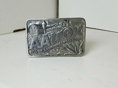 VINTAGE- AATREX Silver Anniversary In Corn Belt Buckle - AGRICULTURE FARMING