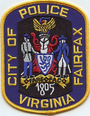 FAIRFAX CITY VIRGINIA VA gold border POLICE PATCH