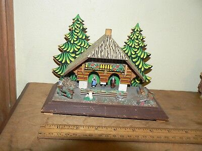 Vintage German Weather House Black Forest Couple Germany