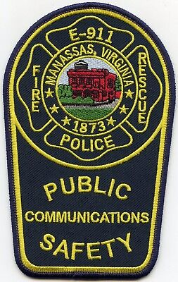 MANASSAS VIRGINIA VA 9-1-1 Dispatcher COMMUNICATIONS FIRE RESCUE POLICE PATCH