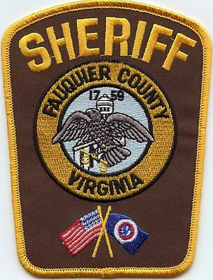 new style FAUQUIER COUNTY VIRGINIA VA SHERIFF POLICE PATCH