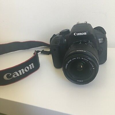CANON EOS 700D DSLR CAMERA WITH KIT LENS (18-55mm)