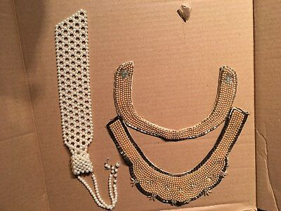 "3 Vintage Pearl Collars, One Marked ""Top Hit"" Fashion"