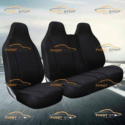 Peugeot Expert Hdi Deluxe Black Piping Van Seat Covers 2+1