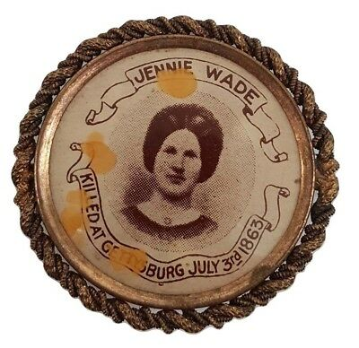 Jennie Wade The Only Woman Killed at Gettysburg Civil War Casualty Button