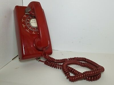 Vintage 1970's Stromberg Carlson Red Rotary Dial Wall Hanging SOLD-AS IS READ