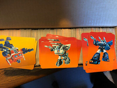 1985 Hasbro Transformers Trading Cards  FINISH YOUR SET Singles 1-192