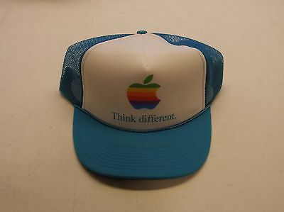 Apple Computer Rainbow Logo Think Different Hat - Teal