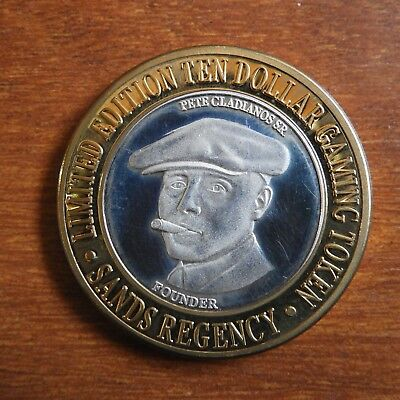 .999% Fine Silver Nevada $10 Gaming Token THE SANDS REGENCY