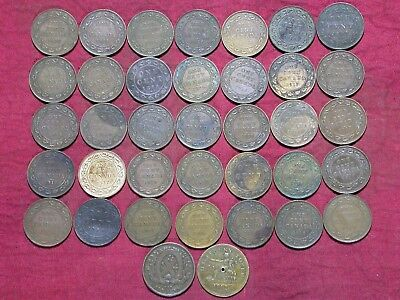 Canadian Large Cents - Lot of 38, includes 1812 & 1837 Half Penny