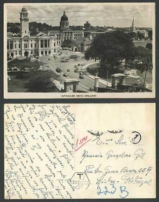 Singapore Postage Dues 1952 Old Real Photo Postcard Connaught Drive Street Scene