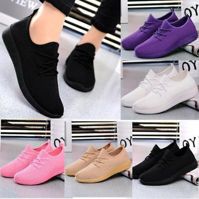 Lady Womens Outdoor Flats Sports Breathable Casual Sneakers Running Shoes Size