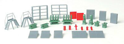 Walthers SceneMaster HO Scale Industrial Scene Details Stairs/Machines/Shelves