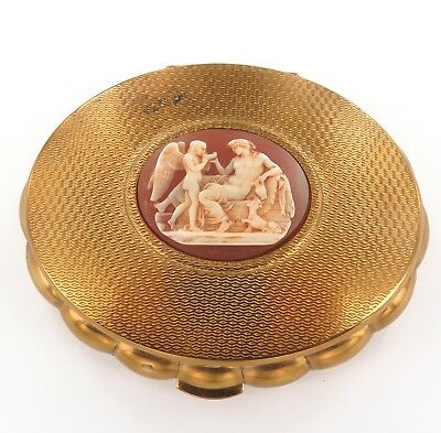 .vintage New Old Stock Kigu Cameo Theme Ladies Compact.